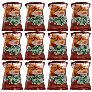 Red Oak Plantain Chips Pack Of 12 - Onion Ginger