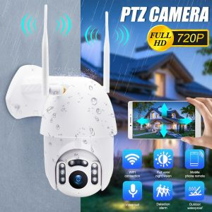 720P HD WiFi PTZ Camera Security CCTV Home Survelliance Red