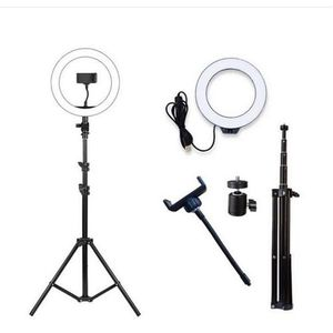 8 Inch LED Ring Light With 160cm Adjustable Tripod Stand For Live Videos Makeup Photography Theatre Works Blogging YouTubing Etc