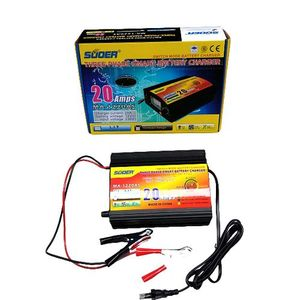 SUOER 20A 12v Inverter Charger With Battery Clips