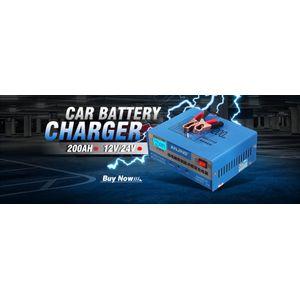 Car Battery Charger Automatic Intelligent 130/250V 12/24V 200AH Pulse Repair EU