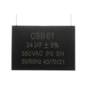 CBB61 350V 24uF AC For Brushless Small Gasoline Diesel Generator Capacitor AVR