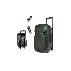"""8"""" Rechargeable PA System With Bluetooth And 2 Wireless Mic"""