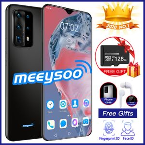Meeysoo P45 Pro Smart Phone (128GB Free TF Card) Reno 4 6.6 Inch Full Screen Smartphone Android 6.6 Dual Sim Mobile Phone