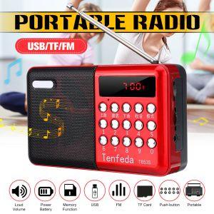 Ortable Radio Digital Rechargeable FM USB TF M3 Layer Speaker