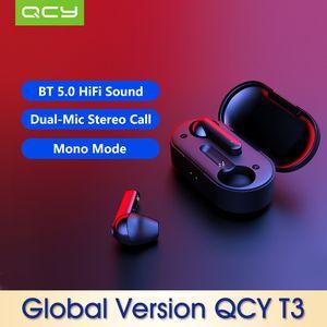 Qcy T3 BT 5.0 True Wireless Earphones Earbuds Headset-Black